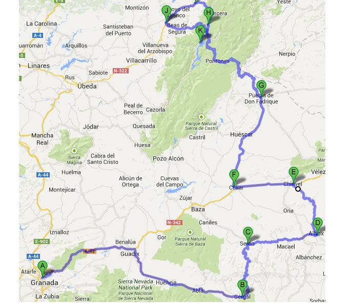 Insane route through the Spanish back-country