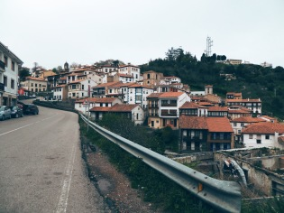 One of the small villages that hugged the clifftops