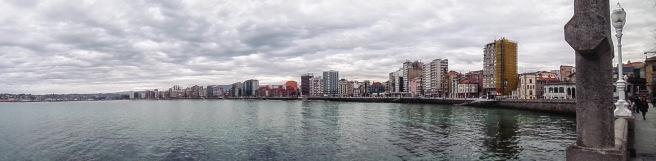 Gijon seafront - the nicer touristy bit.