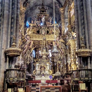 Inside the Cathedral. Who thought the Spaniards were ever fans of gold?