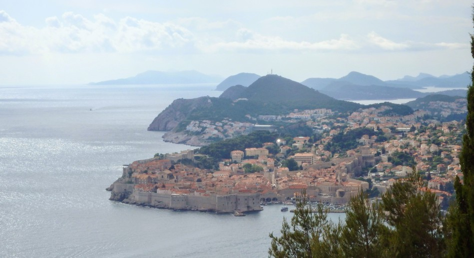 Approaching Dubrovnik on the cliff road to the South.