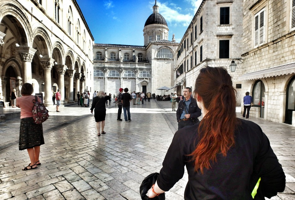 Sarah with the Cathedral