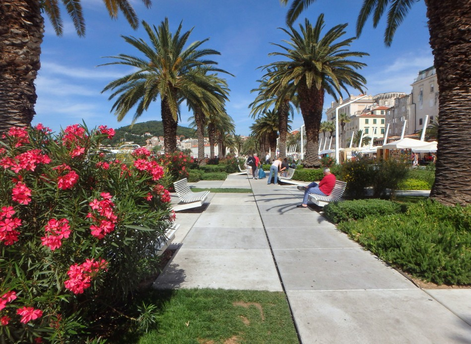 Split's harbour front promenade (and swanky designer benches)