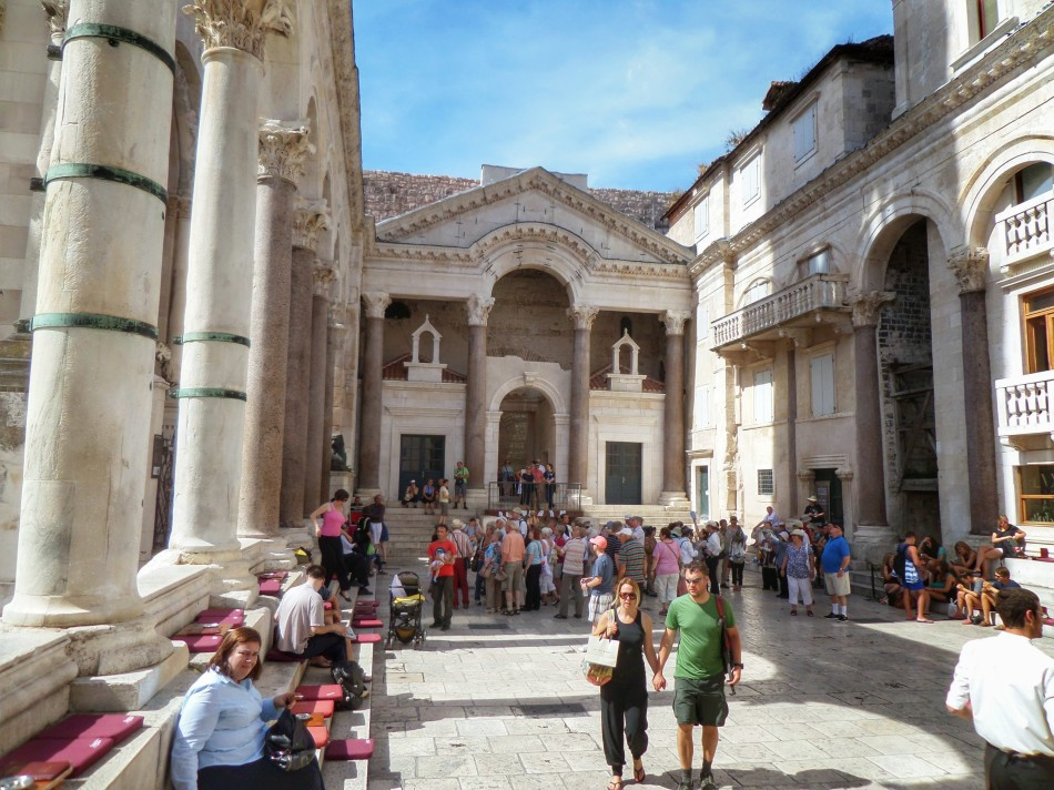 Diocletian's Palace - and perhaps one of the fanciest coffee shops you could stop at..