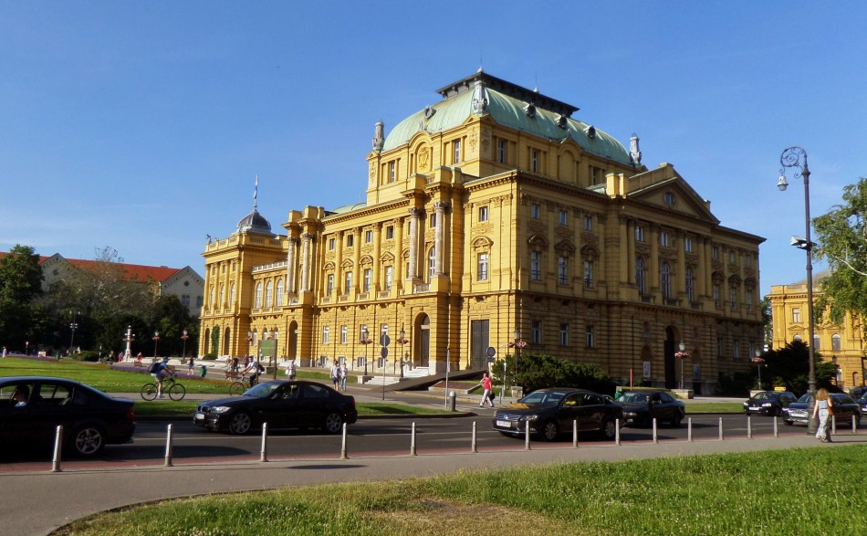 The big yellow Croatian National Theatre