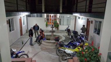 All bikes back in the hotel reception, safe and sound.