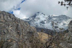 Huascaran topped off with clouds