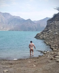 Skinny dipping in Lake Tembladera