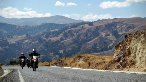 Riding West out of Huaraz