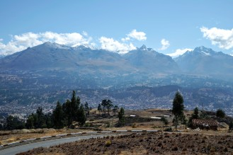 The Cordillera Blanca was always over one shoulder