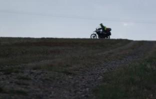 Classic Adventure Biking Silhouette
